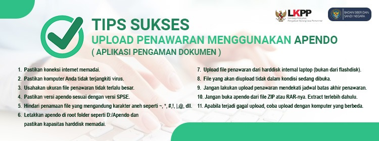 Tips sukses Upload APENDO